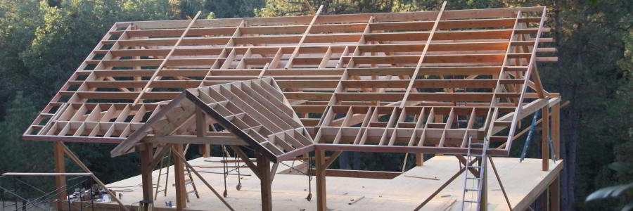 Timber Framing Homes in the Sierra-Nevada Mountains of Amador County ...